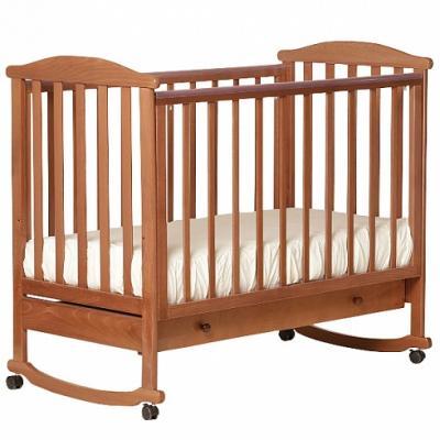 Кроватка-качалка Лель Лютик АБ 15.1 (орех светлый) кроватка качалка лель лютик аб 15 1 белый