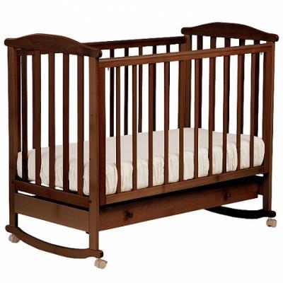 Кроватка-качалка Лель Лютик АБ 15.1 (орех темный) кроватка качалка лель лютик аб 15 1 белый