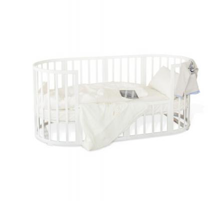 Кроватка-трансформер с маятником Noony Cozy (белый)