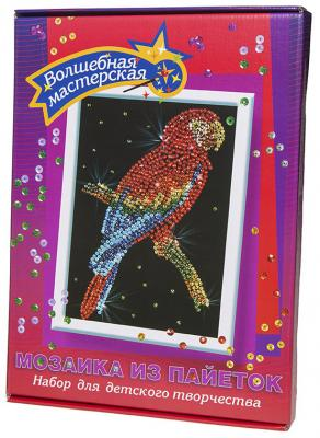 Мозайка из пайеток Волшебная мастерская Попугай Какаду 027 мозайка из пайеток волшебная мастерская лисичка