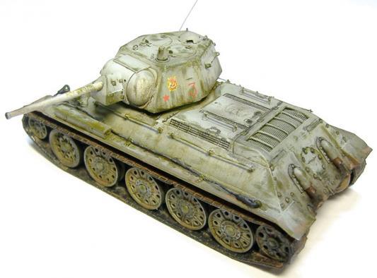 """Танк Звезда """"Советский танк """"Т-34/76"""" 1:35 зеленый 3525"""