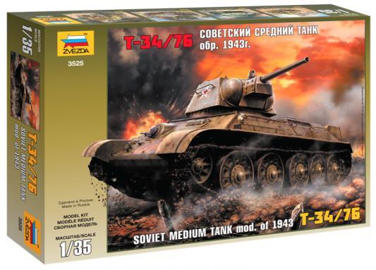 """Танк Звезда """"Советский танк """"Т-34/76"""" 1:35 зеленый 3525 от 123.ru"""