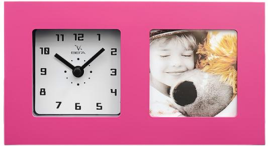 Часы-фоторамка Вега 6409 розовый