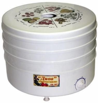 Сушилка для овощей и фруктов Ротор Дива СШ-007-05 белый
