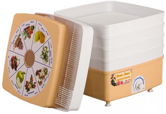 Сушилка для овощей и фруктов Дачница Дива-Люкс СШ-010-02 белый коричневый