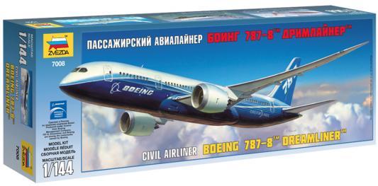 """Самолёт Звезда """"Пассажирский самолет """"Боинг 787-8"""" 1:144 белый"""