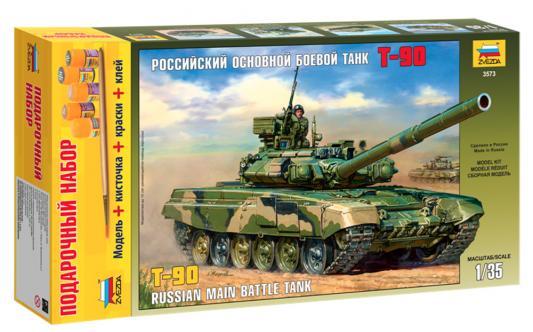 Танк Звезда Российский основной боевой Т-90 1:35 хаки танк звезда российский основной боевой т 90 1 35 3573