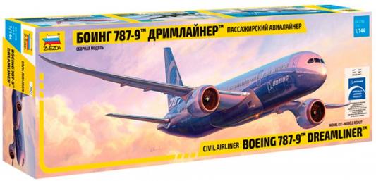 "Самолёт Звезда ""Боинг 787-9 ""Дримлайнер"" 1:144 серебристый"