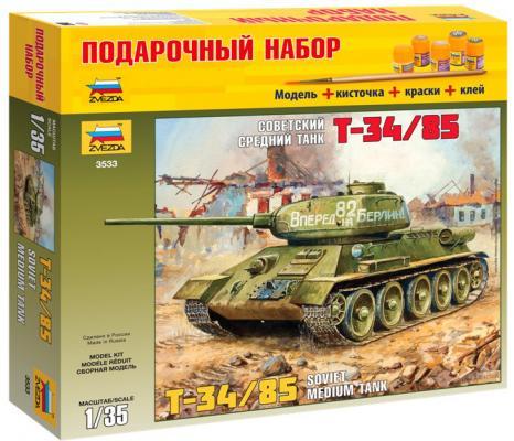 Танк Звезда Т-34/85 3533П 1:35 хаки от 123.ru