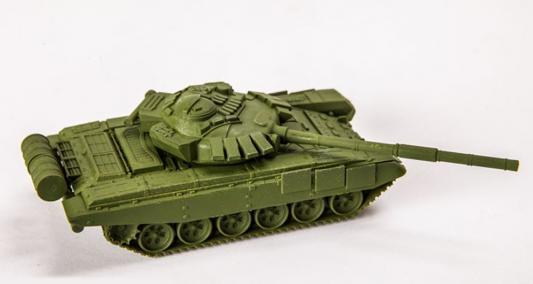 Танк Звезда Т-72Б 1:100 зеленый 1 35 звезда т 26