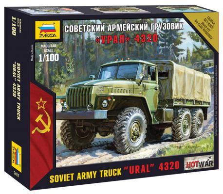 Купить Грузовик Звезда Советский армейский грузовик - Урал 4320 1:100 хаки, ЗВЕЗДА, Машины и мотоциклы