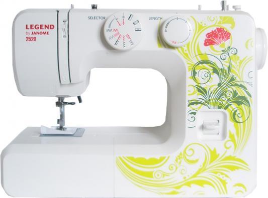 Швейная машина Janome Legend 2520 белый/рисунок