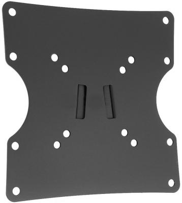 "Кронштейн Holder LCD-F2501-B черный для ЖК ТВ 10-40"" настенный от стены 24мм наклон 0° VESA 200x200 до 30 кг"
