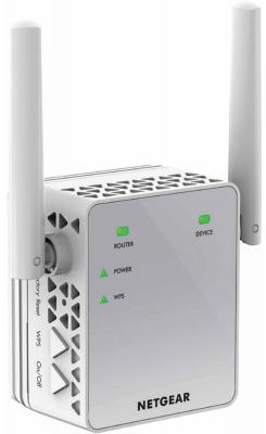 Ретранслятор NetGear EX3700-100PES 802.11abgnac 750Mbps 2.4 ГГц 5 ГГц 1xLAN белый