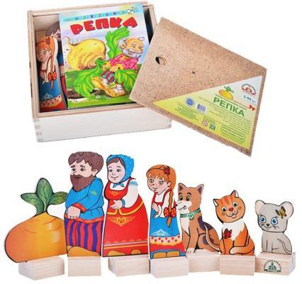 Игровой набор КРАСНОКАМСКАЯ ИГРУШКА Персонажи сказки Репка Н-19 краснокамская игрушка развивающая пирамидка кольцевая