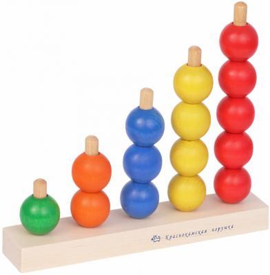 Пирамида КРАСНОКАМСКАЯ ИГРУШКА Радуга 16 элементов ПИР-04 конструктор краснокамская игрушка к 02 пираты 40 элементов