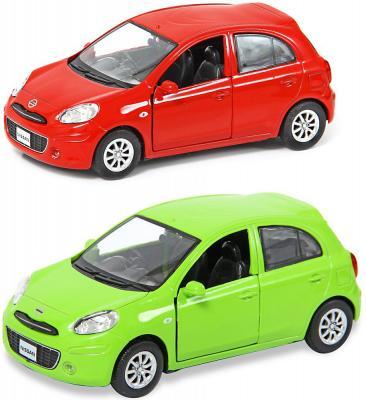 Автомобиль Hoffmann Nissan March 1:32 цвет в ассортименте