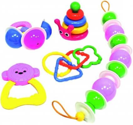 Набор погремушек Пластмастер Для самых маленьких на коляску 11193 пластмастер набор кукольной мебели квартирка