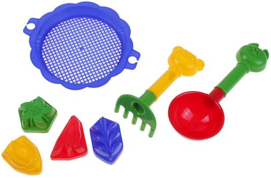 Купить Песочный набор Пластмастер Бережок 7 предметов 70036 в ассортименте, Ведерки, лопатки и формочки для детей