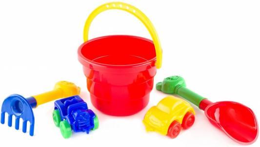 Купить Песочный набор Пластмастер Гонки 5 предметов 70059 в ассортименте, Ведерки, лопатки и формочки для детей