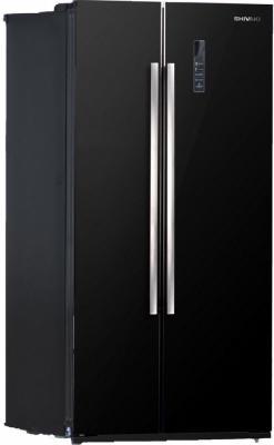 Холодильник Side by Side SHIVAKI SBS-550DNFBGL черный холодильник side by side samsung rs552nrua9m