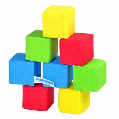 Кубики МЯКИШИ 332 4 цвета с рождения 8 шт