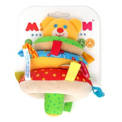 Погремушка МЯКИШИ ШуМякиши Мишка 322 мякиши 265 игрушка погремушка пирамидка зайка