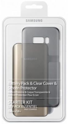 Чехол Samsung EB-WG95EBBRGRU для Samsung Galaxy S8 + защитное стекло черный набор samsung starter kit s8 samsung galaxy s8 черный [eb wg95ebbrgru]
