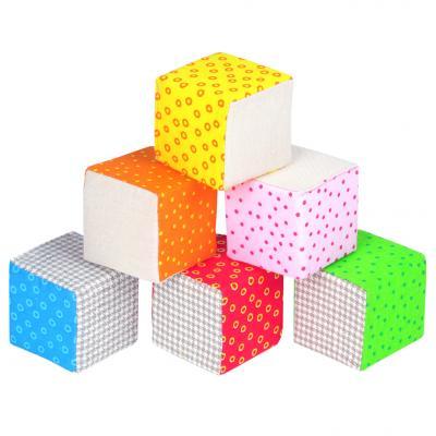 Кубики МЯКИШИ Эко  от 1 года 6 шт