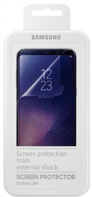 Пленка защитная прозрачная Samsung ET-FG955CTEGRU для Samsung Galaxy S8+ 2шт защитная плёнка для samsung galaxy s9 sm g960 прозрачная samsung et fg960ctegru