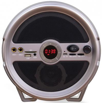 Портативная акустика Ginzzu GM-885B черный аксессуар магнитоконтакт ginzzu hs s02w white беспроводной