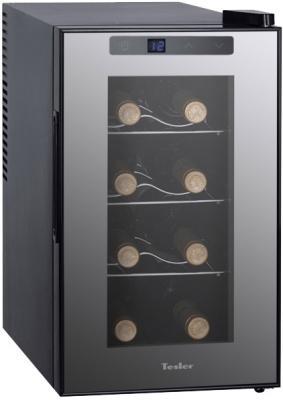 Винный шкаф Tesler WCV-080 серый цена 2017