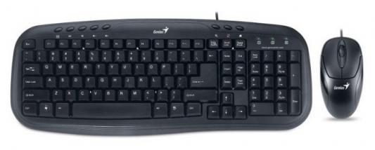 все цены на Комплект Genius KM-210 черный USB