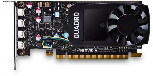 Видеокарта PNY Quadro P600 VCQP600BLK-1 PCI-E 2048Mb 128 Bit OEM видеокарта pny quadro p400 vcqp400blk 1 pci e 2048mb gddr5 64 bit oem