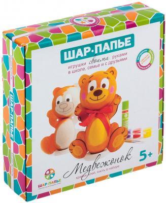 Набор для творчества ШАР-ПАПЬЕ Медвежонок от 5 лет В01671 набор д детского творчества шар набор шар папье медвежонок