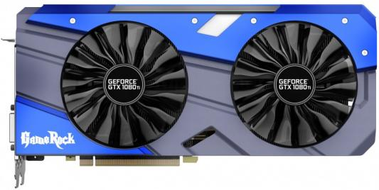 Видеокарта 11264Mb Palit GeForce GTX1080 Ti GameRock 11G PCI-E 352bit GDDR5X DVI HDMI DP NEB108TT15LC-1020G Retail видеокарта palit geforce gtx1050 ti dual 4g ne5105t018g1 4096mb 1290mhz nvidia gtx1050 ti gddr5 7000mhz 128 bit pci e dvi dp hdmi