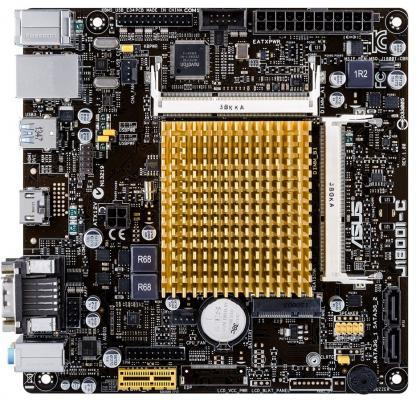 Материнская плата ASUS J1800I-C/CSM с процессором Intel J1800 2xSO-DIMM DDR3 1xPCI-E 1x 2xSATA II mini-ITX Retail цена и фото