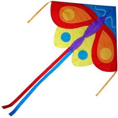 Воздушный змей X-Match Бабочка, 140х105 см воздушный змей x match бабочка 130х74 см