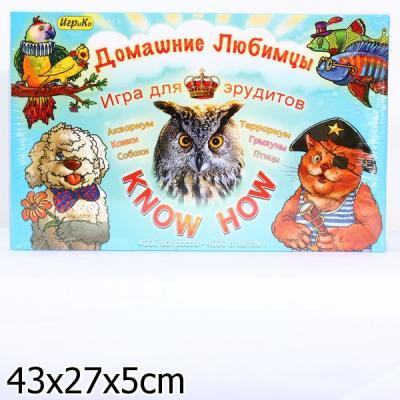 """Настольная игра развивающая ИгриКо """"Домашние любимцы"""" Know How  5736"""