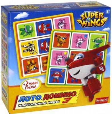Настольная игра ОРИГАМИ развивающая Супер крылья - Лото. Домино