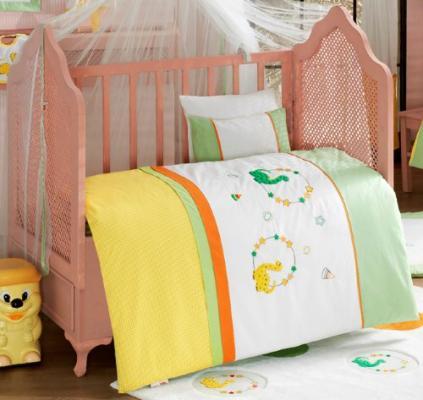 Комплект постельного белья 3 предмета KidBoo Baby Dinos