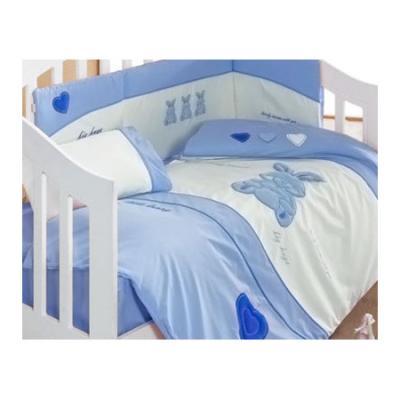 Комплект постельного белья 3 предмета KidBoo Little Rabbit kidboo kidboo халат elephants махровый бело розовый