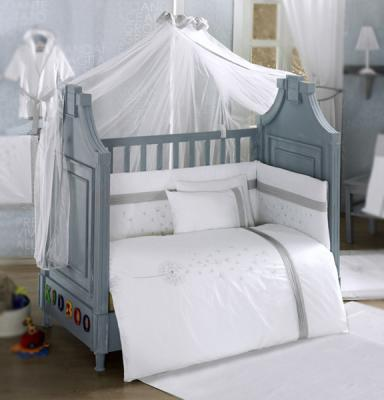 Комплект постельного белья 3 предмета KidBoo Blossom Linen (white)