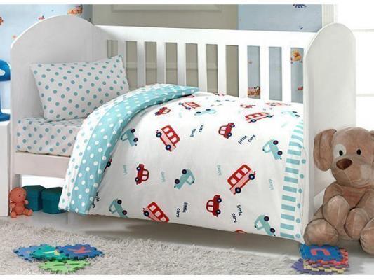 Комплект постельного белья 4 предмета Ups Pups Машинка (синий)