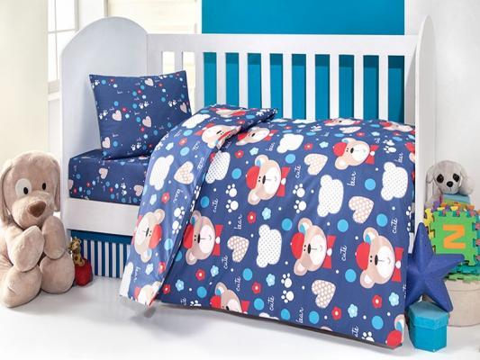 Постельный сет 6 предметов Ups Pups Мишка (синий) постельный сет 6 предметов kidboo самолёт красный