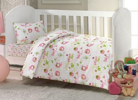 Купить Постельный сет 6 предметов Ups Pups Малыш, KidBoo, розовый, 120 х 60 см, Постельные сеты