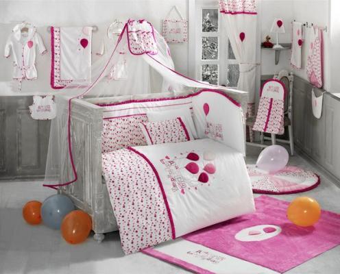 Постельный сет 4 предмета KidBoo Happy Birthday (pink) kidboo kidboo халат elephants махровый бело розовый