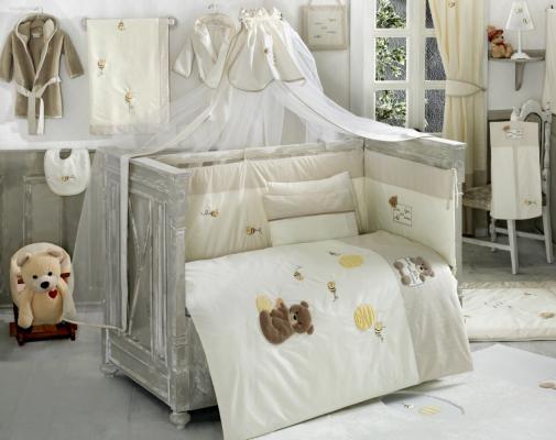 Постельный сет 4 предмета KidBoo Honey Bear (linen) kidboo kidboo халат elephants махровый бело розовый