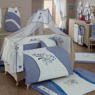 Постельный сет 4 предмета KidBoo Sweet Home (blue) kidboo kidboo халат little pilot махровый белый
