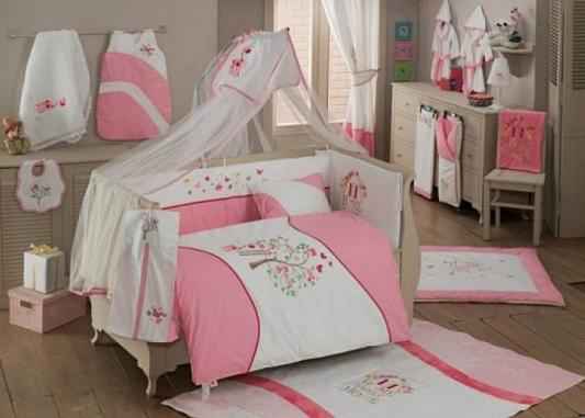 Постельный сет 4 предмета KidBoo Sweet Home (pink) kidboo kidboo халат little farmer махровый бело розовый